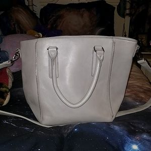 Grey shopping bag purse